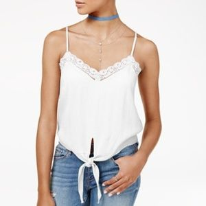 *NWT [American Rag] white tie-front top #514